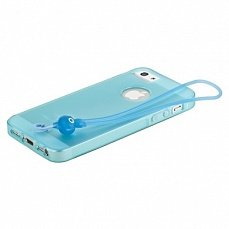 Чехол Hoco для iPhone 5 / 5s Classic TPU Crystal Case Tran голубой