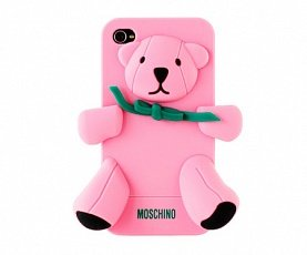 Чехол Moschino для IPhone 4 / 4s Gennarino Bear розовый