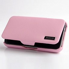 Чехол Hoco для iPhone 4 / 4s Baron Leather Case розовый