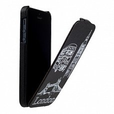 Чехол Fashion для iPhone 5 / 5s flip London Big Ben черный