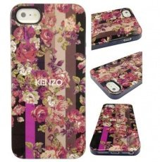Накладка Kenzo для iPhone 5 / 5s TPU case Kila бежевый