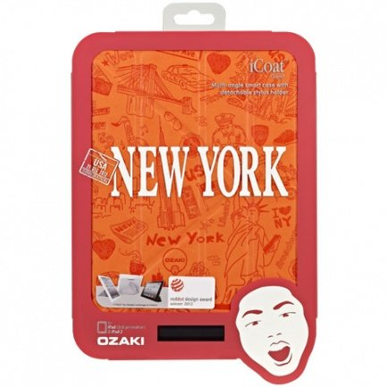 Чехол Ozaki для iPad mini / Retina Travel New York, USA оранжевый