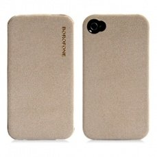 Чехол Borofone для iPhone 4 / 4s Explorer Leather Case бежевый