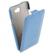 Чехол Melkco для HTC One X Leather Case Jacka Type голубой